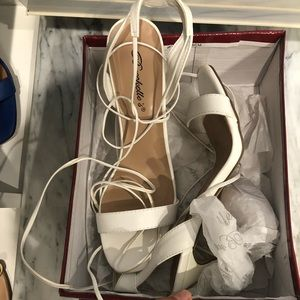 Shoes - White heels. Trade or offers are welcome